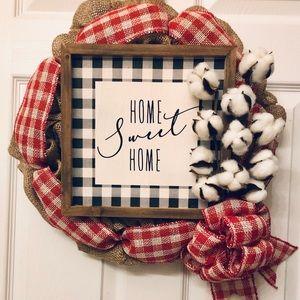Home Sweet Home door wreath Handmade